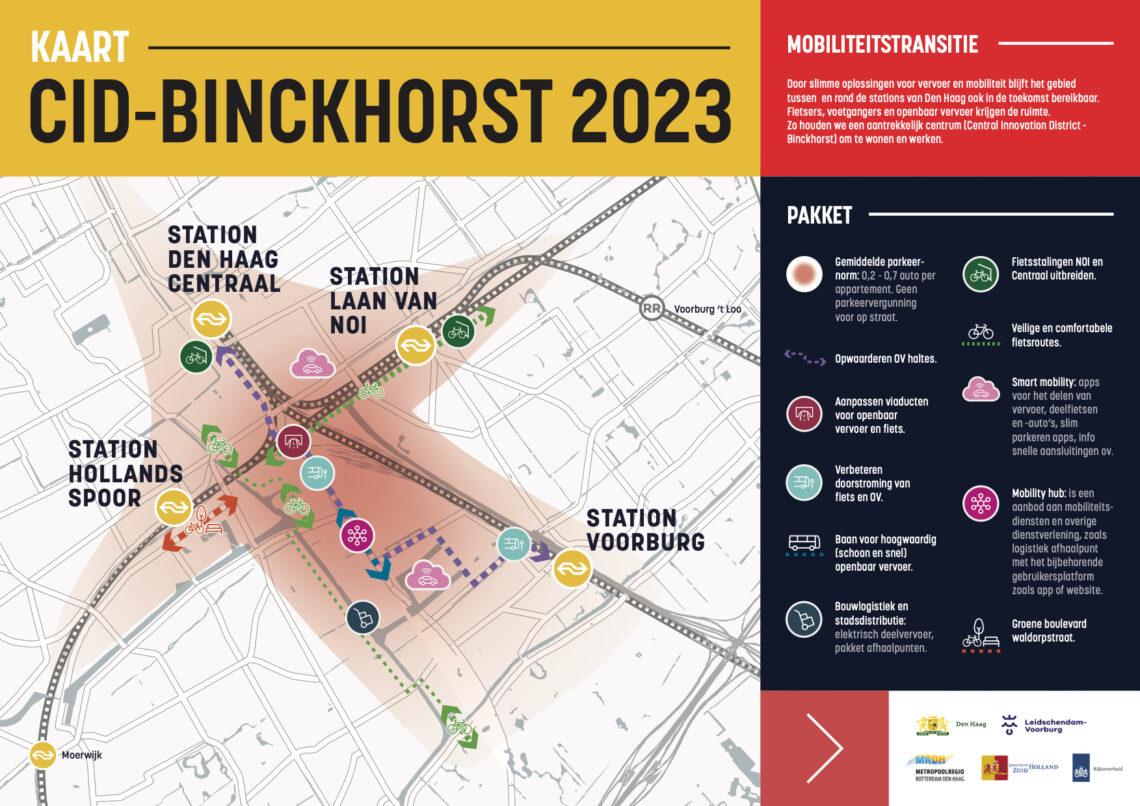 Kaart CID-Binckhorst mobiliteit 2023