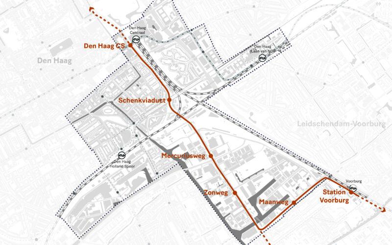 Haltes openbaar vervoer Den Haag CS Binckhorst Station Voorburg